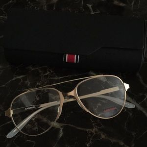 Authentic Carrera Gold Frames With Lenses